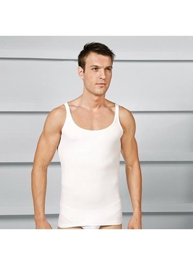 Goldenbay Erkek Kalın Askılı Pamuklu Nefes Alan Koton Kumaş Atlet  Beyaz